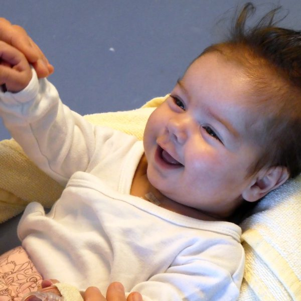 Musiktherapie mit Herzkind Michelle