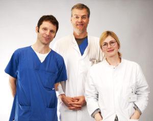 PD Dr. Daniel Messroghli, PD Dr. Stephan Schubert (Studienleiter) und Dr. Franziska Degener (Studienärztin) aus dem Deutschen Herzzentrum Berlin