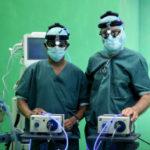 Ärzte in Arbeitskleidung