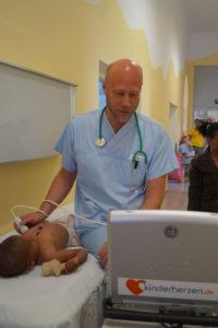 Herzkind beim Ultraschall