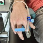 Hand am pulsoxymeter