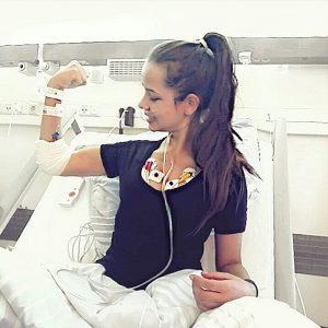 Sabrina in der Klinik