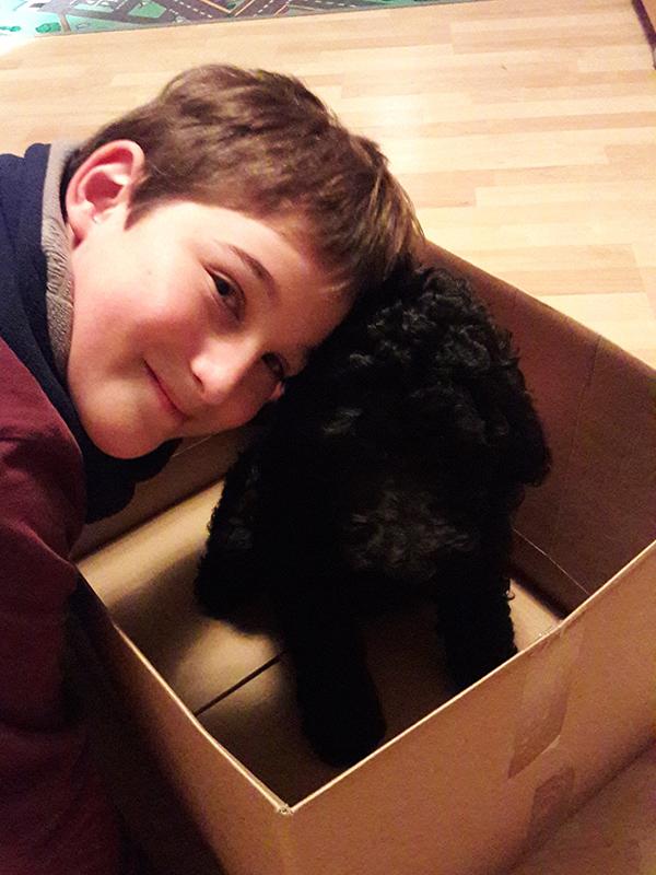 Herzkind Felix mit Hund Anka