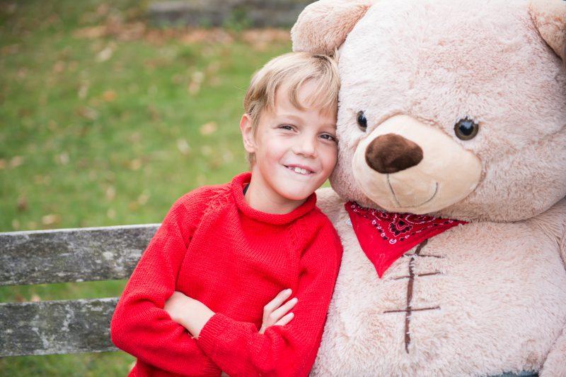 Herzkind Bruno mit kinderherzen-Bär Moritz