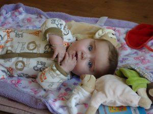 Zoe als Baby