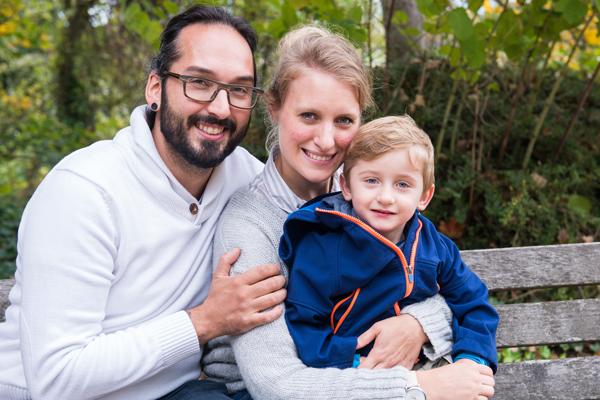 Herzkind Antonino mit Familie