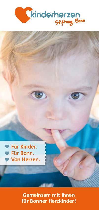 Cover Flyer kinderherzen Stiftung Bonn