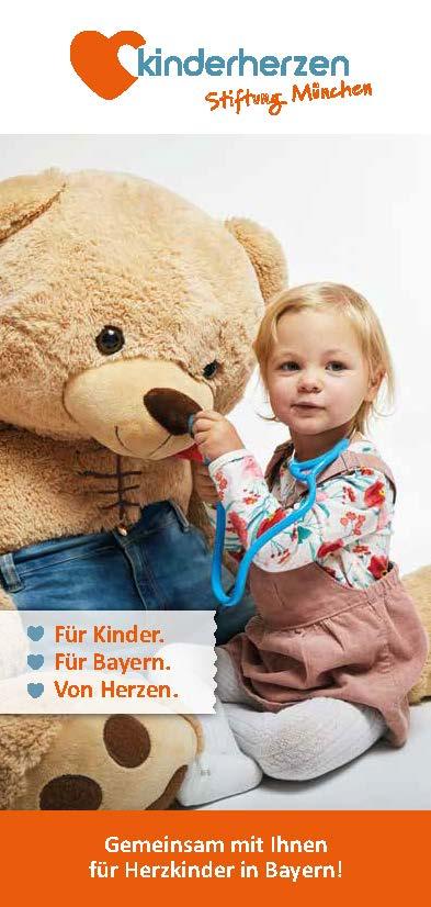 Cover Flyer kinderherzen Stiftung München