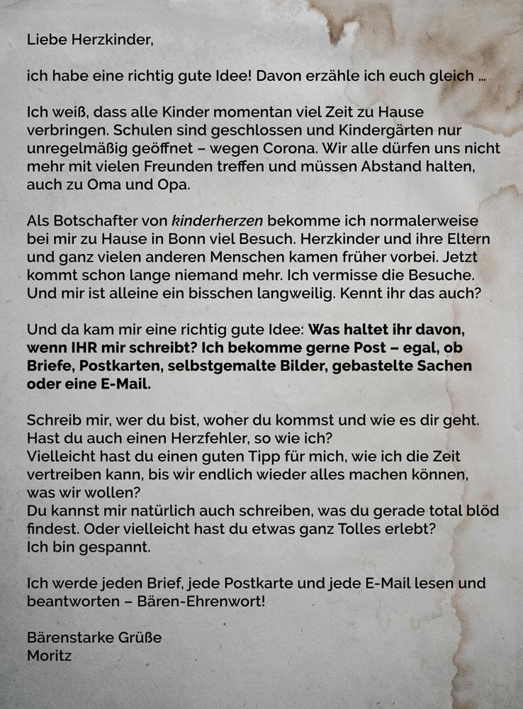 Briefe an Moritz