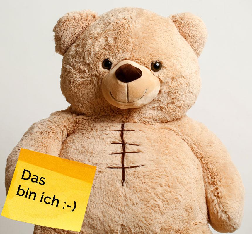 Moritz mit Post it